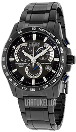 Citizen Radio Controlled Musta/Teräs Ø42 mm AT4007-54E