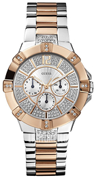 Guess Sporty Hopea/Punakultasävyinen Ø41 mm W0024L1