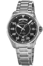 Hamilton Khaki Aviation Musta/Teräs Ø42 mm H64615135