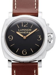 Panerai Historic Luminor 1950 3 Days Musta/Nahka Ø47 mm PAM 372