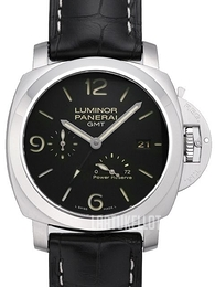 Panerai Contemporary Luminor 1950 3 Days GMT Power Reserve Automatic Musta/Nahka Ø44 mm PAM 321