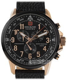 Swiss Military Sport Musta/Nahka Ø46 mm 06-4297.09.007