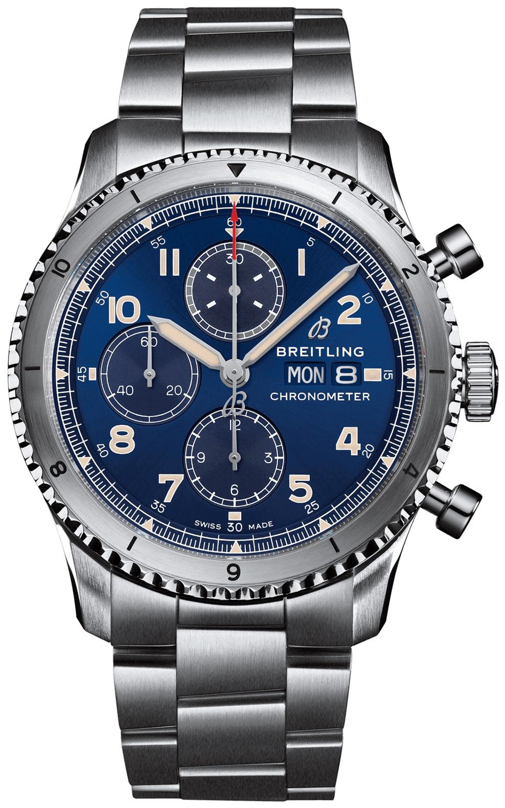 Breitling Aviator 8 Chronograph 43 Miesten kello A13316101C1A1