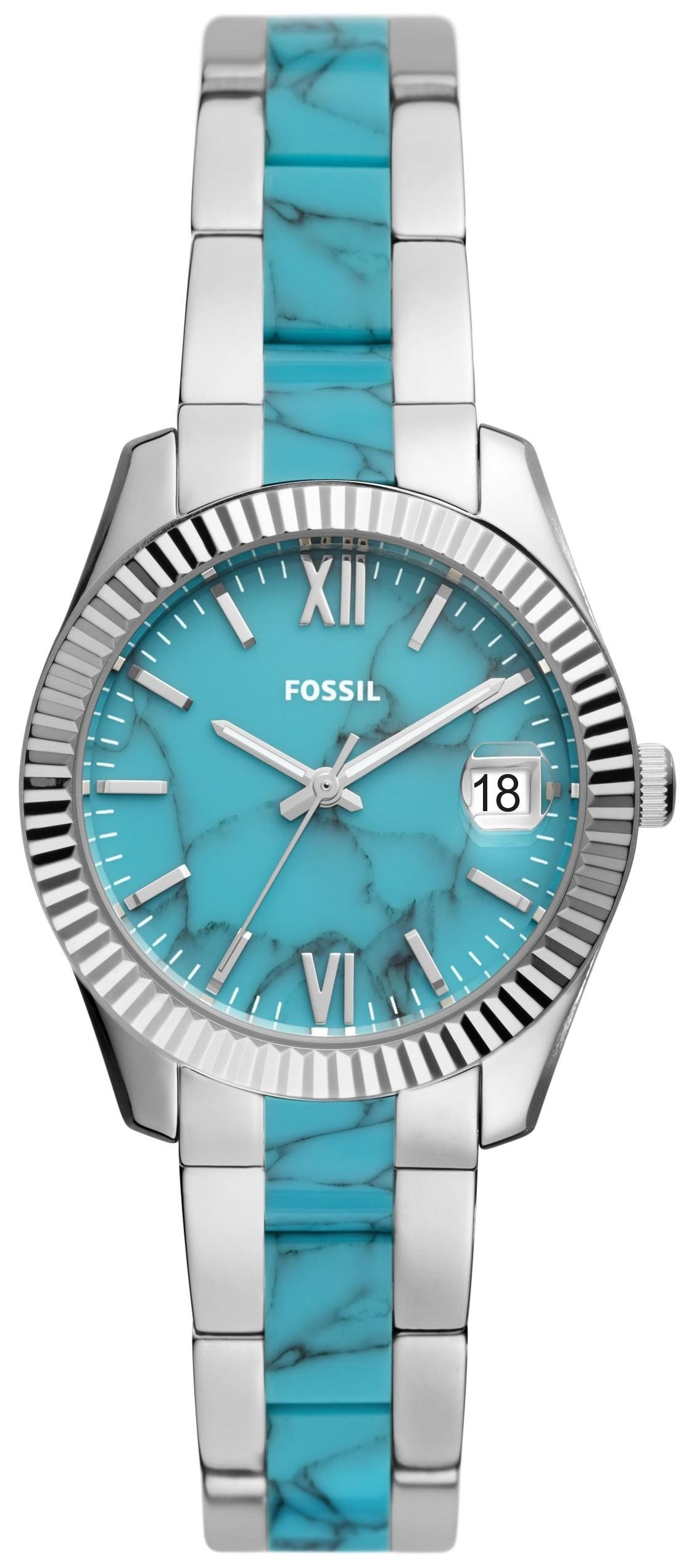 Fossil Scarlette Mini Naisten kello ES5077 Sininen/Kumi Ø32 mm