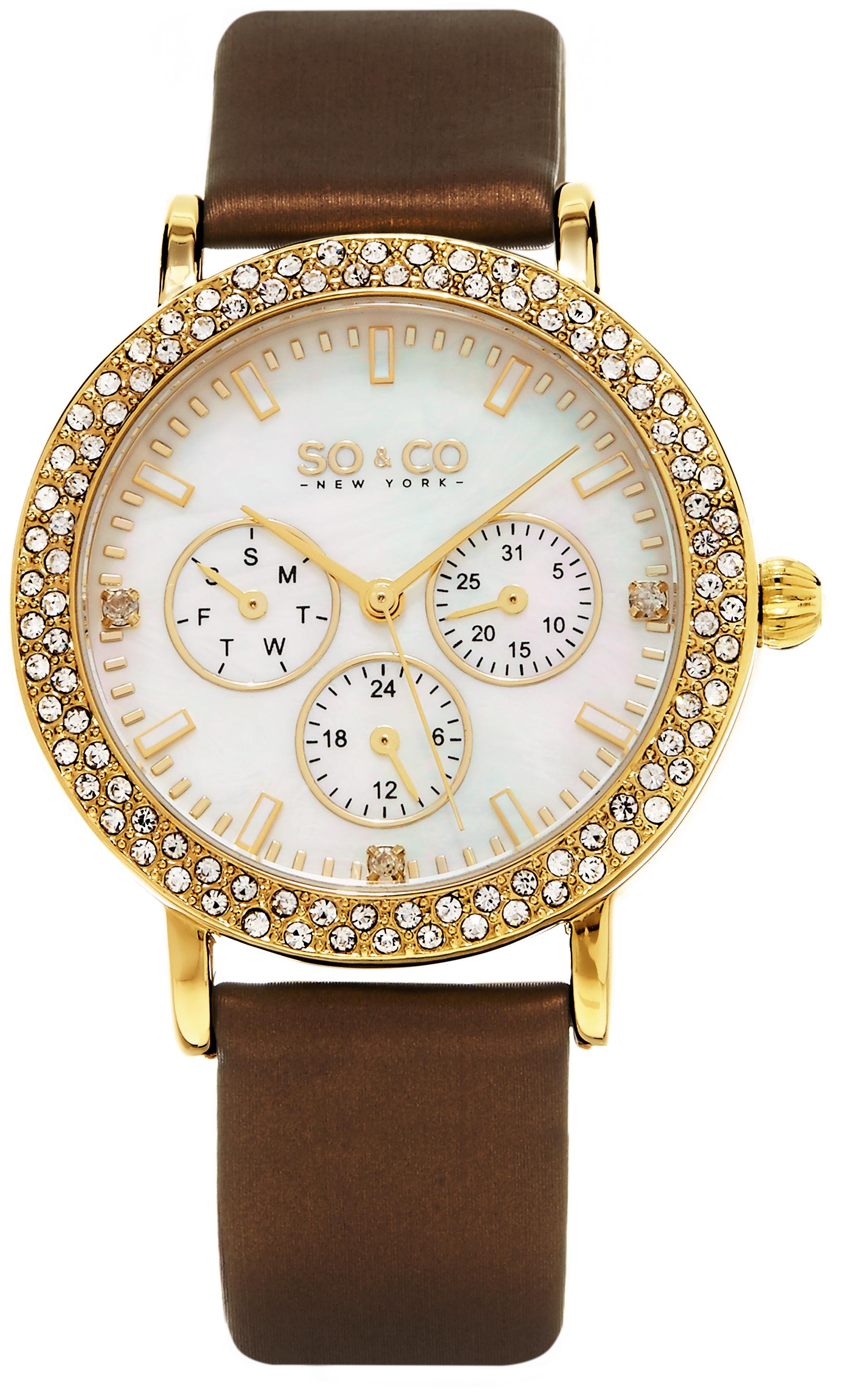 So & Co New York Madison Naisten kello 5216L.3 Valkoinen/Satiini