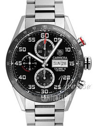 TAG Heuer Carrera Calibre 16 Day Date Automatic Chronograph Musta/Teräs Ø43 mm CV2A1R.BA0799