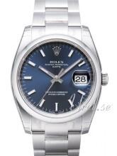 Rolex Perpetual Date Sininen/Teräs Ø34 mm