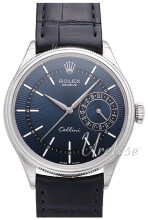Rolex Cellini Date Sininen/Nahka Ø39 mm